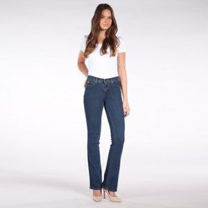 Second Yoga High Rise Bootcut Jeans Classic Blue